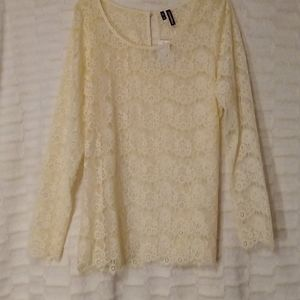 Sheer lace pull over
